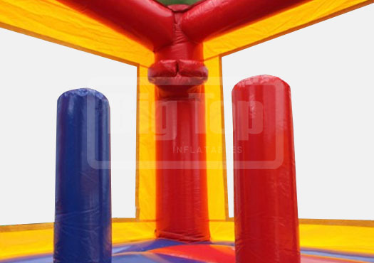 Rainbow Castle Wet Or Dry Combo With Pool Celebrations